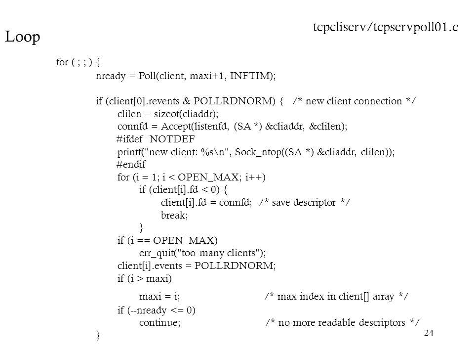 maxi = i; /* max index in client[] array */